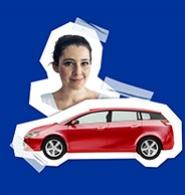 Papercut Frau und Auto